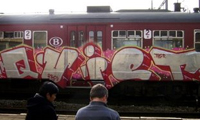 Belgium Graffiti on Trains