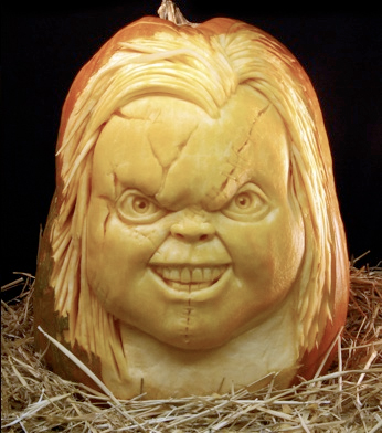 ray villafane pumpkin carving chucky