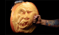 Detailed Pumpkin Carving by Ray Villafane