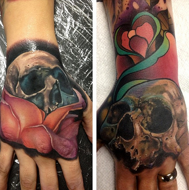 realistic skull tattoos by john barrett