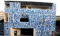 Retna Paints Pasadena Museum of California Art