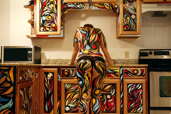 It makes for a very interesting kitchen now