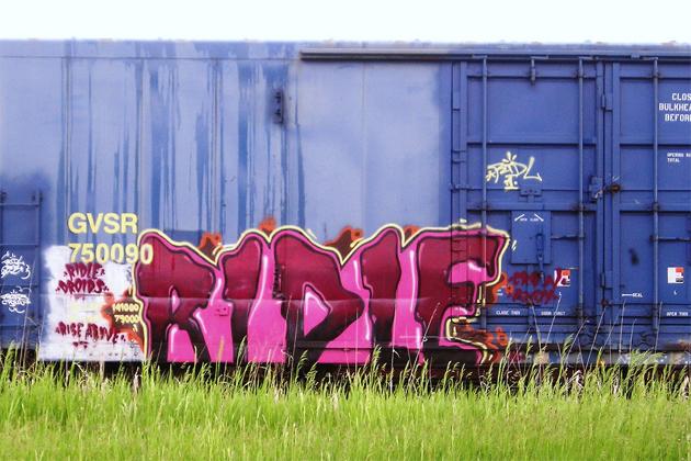 ridle graffiti boxcar