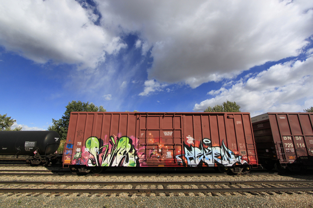 rime askew graffiti boxcar