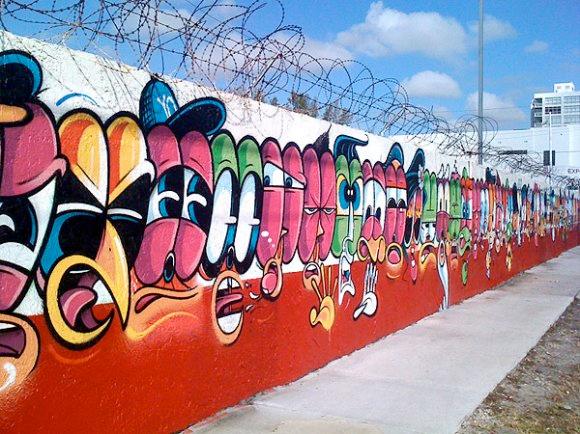 rime graffiti 50 characters wall