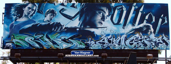 Rime and Augor Graffiti Harry Potter Billboard