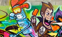 Rime & Witnes Graffiti Wall