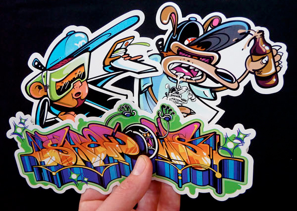 rime graffiti stickers
