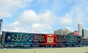 Risk Obey Rooftop Graffiti