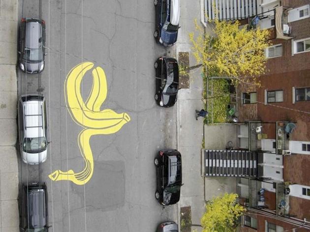 roadsworth street art montreal