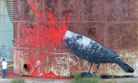 Roa Paints an Oil Refinery
