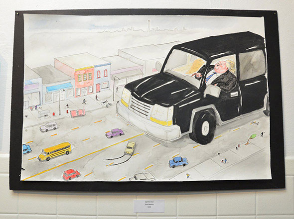 rob ford driving art