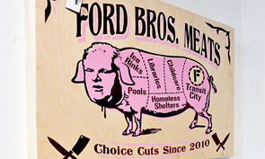 Spud's Graffiti Show Against Mayor Rob Ford