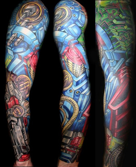 Sleeve Tattoo Photos. Cole Robotic Tattoo Sleeve