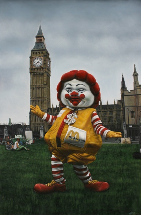 Ron English Fat Ronald McDonald