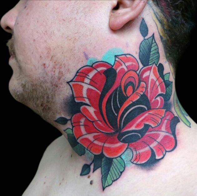 rose tattoo by Jeff Ensminger