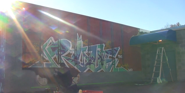 rove freight wall graffiti video