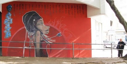 Faith47 Graffiti Wall