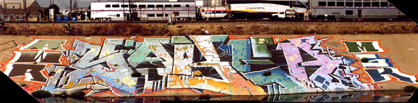 Saber Los Angeles River Painting
