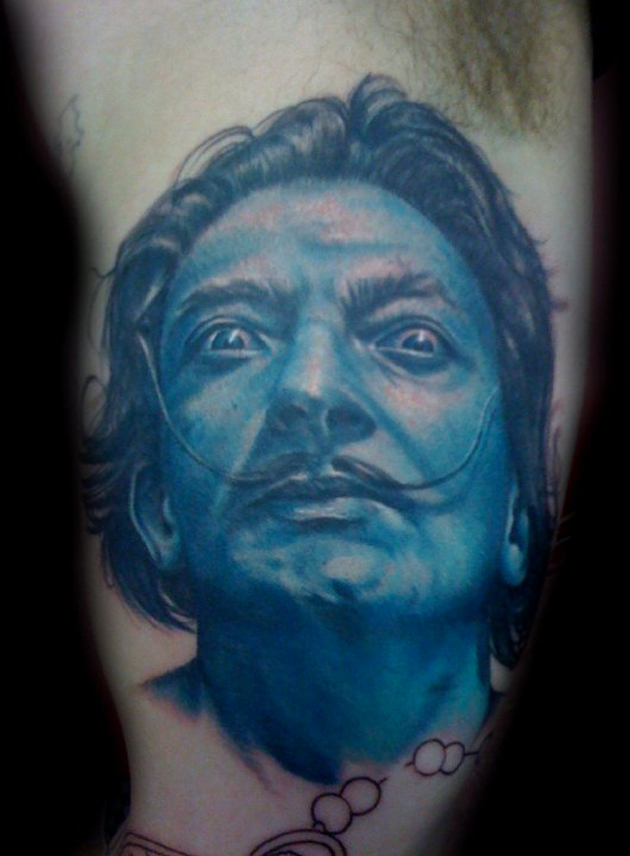 salvador dali tattoo by craig fenrick