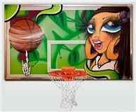 sand one graffiti basketball net