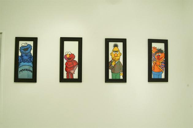 sesame street tattoo paintings