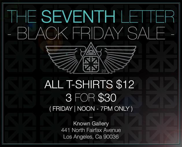 seventh letter black friday sale