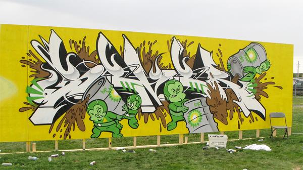 sever bp graffiti