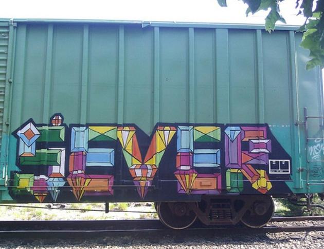sever graffiti boxcar freight