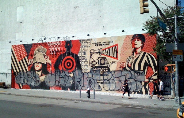 shepard fairey mural dissed