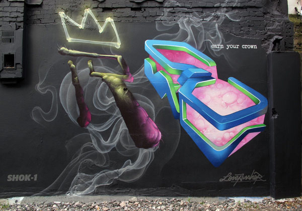 shok1 graffiti wall