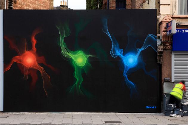 shok1 rgb trinity wall graffiti