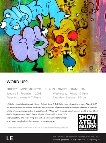 Word Up Art Show Poster