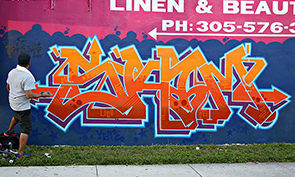 Skam Graffiti in Miami