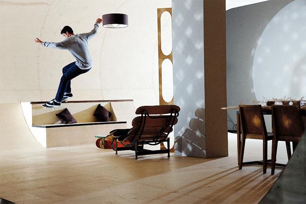 skate-park house