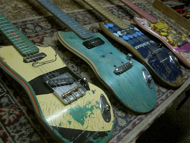 skateboard deck guitars