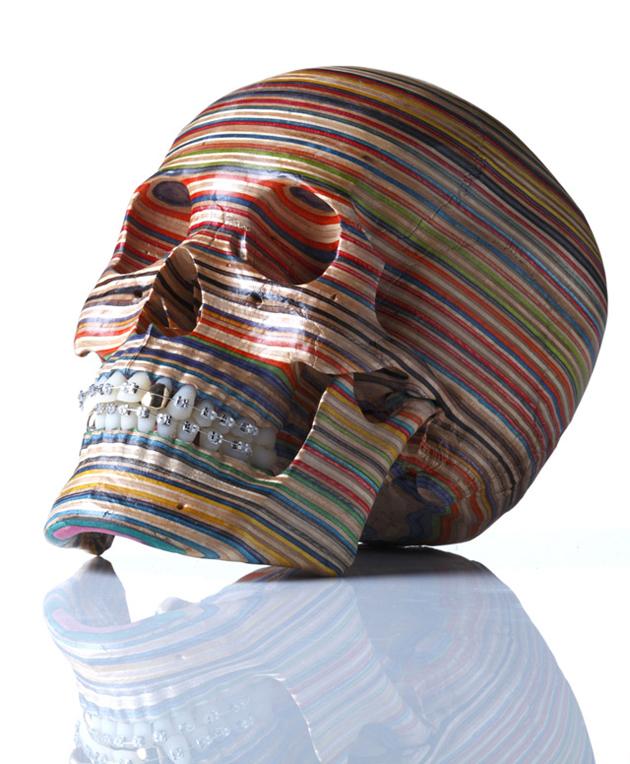skateboard deck skull