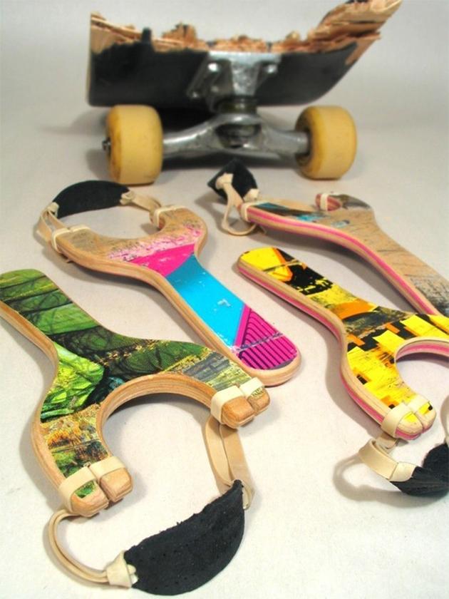 skateboard deck sling shots