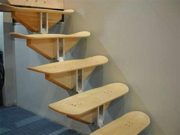 skateboard deck stairs