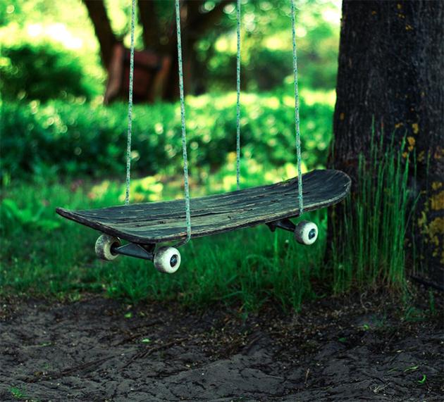skateboard deck swing