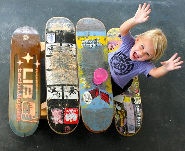 skateboard deck table