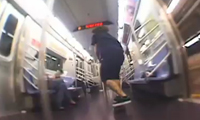 Skateboarding in the NYC Subway