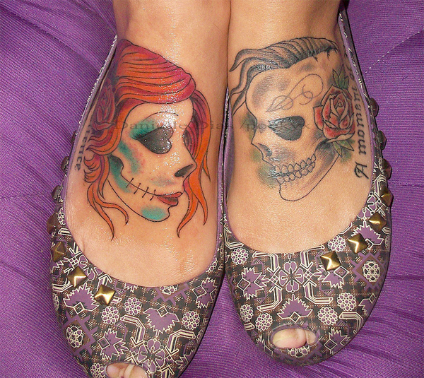 skull heads tattoo