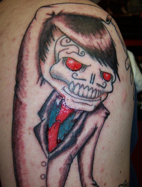 Skull Suit Tattoo