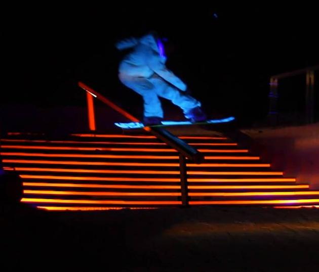 snowboarding led lights