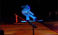 Black Snow – Snowboarding Light Show