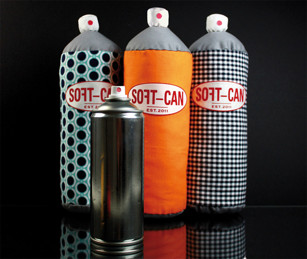 soft can has designed fluffy spray paint can pillows that come in. Black Bedroom Furniture Sets. Home Design Ideas