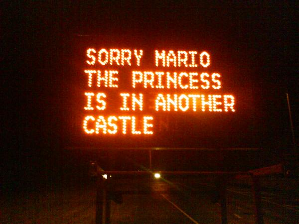 Sorry Mario the Princess is in another castle