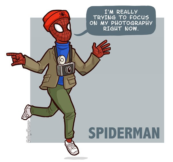 spiderman hipster