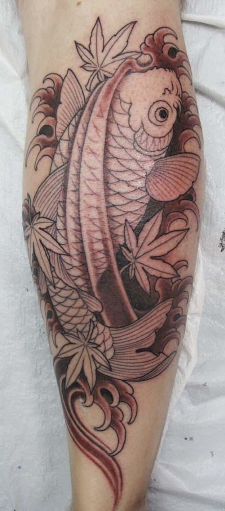 spotted koi fish tattoo chris garver